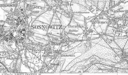 Niemiecka mapa Górnego Ślska z 1937 r.