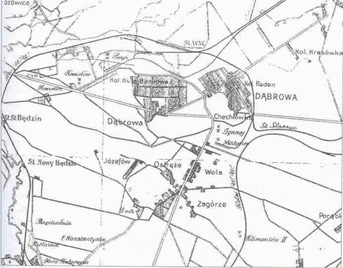 Zagłębie Dąbrowskie w 1911 r.