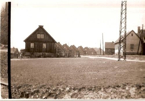 Ul. Gołębia. Po prawej stronie widoczny nieistniejący już budynek pralni