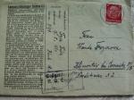 List F. Frycza z KL Dachau do rodziny mieszkającej jeszcze w Klimontowie