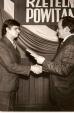 Uroczystości kopalniane, po prawej dyrektor K. Krajewski