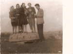 Bunkier na Górce. Panie: Krzętowska, Kamińska, Dąbek, Fudała i pan A. Pacierpnik