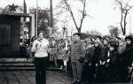 Zbiórka harcerzy z podhufca Klimontów(1972 lub 1973 rok)