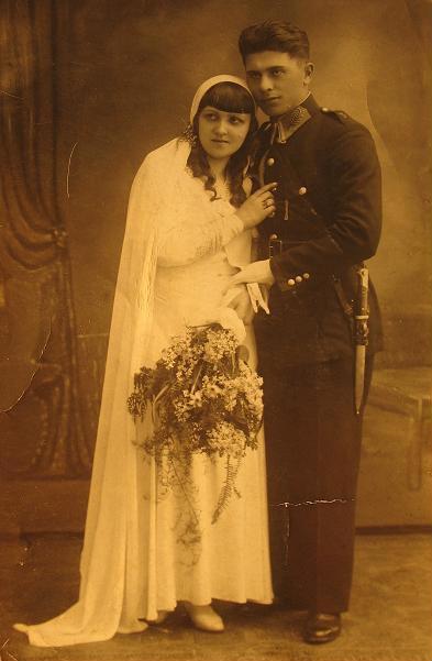 Maria i Antoni Janoska, fotografia ślubna 1932 r.